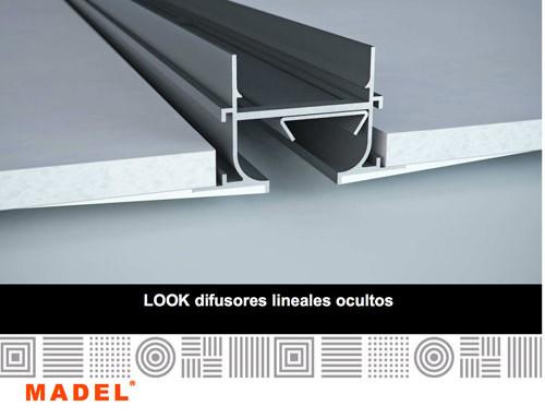 ISE presenta los nuevos difusores lineales de marco oculto LOOK de MADEL